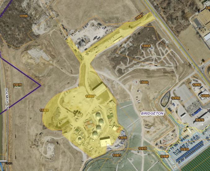 St. Louis County property tax records indicate that the more than 20 acres shaded in yellow inside the EPA Superfund site are owned by West Lake Quarry & Material Co., which is owned by the Catholic Church.